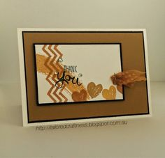 Stampin' Up! ... handmade  thank you card from Tailored Craftiness ... monochromatic with black mats and ink ... great design ...