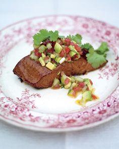 Hot Smoked Salmon with an Amazing Chili Salsa
