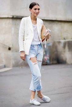 Blazer blanca para todos tus looks
