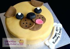 See examples of Little Miss Cake Maker's cakes here. Use the gallery as inspiration & see some of our previous clients and cake orders. All cakes are custom made. Birthday Cakes Girls Kids, Puppy Birthday Cakes, Dog Birthday, Cupcakes, Cupcake Cakes, Pug Cake, Miss Cake, Cake Recipes For Kids, Animal Cakes