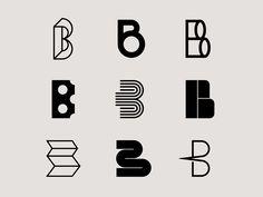 Letter B exploration designed by Milos Bojkovic. Connect with them on Dribbble; 3 Letter Logo, Letter B, Typography Logo, Logo Branding, Branding Design, Design Packaging, Library Logo, Bb Logo, Restaurant Logo