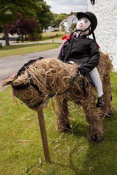 horse Garden Scarecrow | horse rider scarecrow | Flickr - Photo Sharing!