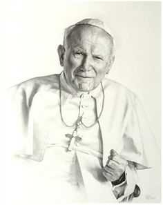 'Portrait of a Saint' - Smith Catholic Art Pope John Paul II Catholic Art, Catholic Saints, Religious Art, Roman Catholic, Papa Juan Pablo Ii, Pope John Paul Ii, Jean Paul, Blessed Mother, Pope Francis
