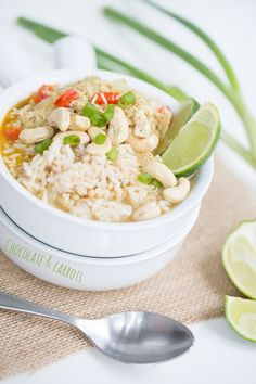 Curried Coconut Chicken Soup with Brown Rice