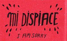 Learning Italian Language ~  Mi dispiace (I'm sorry) IFHN