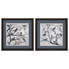 Morning Song 2 Piece Framed Painting Print Set