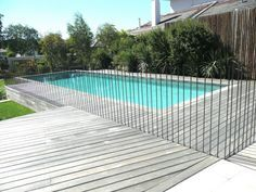 3 Lucky Clever Tips: Fence Plants Animals wood and metal fence.Fence Landscaping Along The rustic country fence. Glass Pool Fencing, Glass Fence, Pool Fence, Backyard Fences, Garden Fencing, Front Yard Fence, Farm Fence, Fence Art, Living Pool