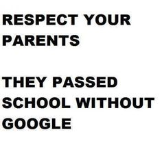 THINK! Respect your parents