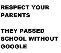 THINK! Respect your parents