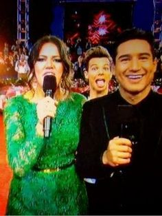My love Louis Tomlinson just photo-bombed the X Factor hosts on national TV tonight...that boy....
