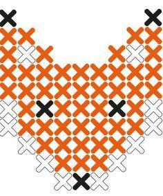 Fox cross stitch sticker pattern from Lidewijs.http://decdesignecasa.blogspot.it