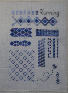 Japanese Embroidery Designs Running Away with Running Stitch Embroidery Stitches Tutorial, Embroidery Sampler, Embroidery Transfers, Embroidery Techniques, Embroidery Patterns, Hand Embroidery, Floral Embroidery, Blackwork, Latest Embroidery Designs