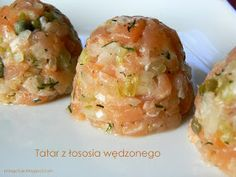 Pola Gotuje: Tatar z łososia wędzonego Appetizer Salads, Appetizers, Baked Potato, Potato Salad, Shrimp, Potatoes, Cooking Recipes, Baking, Ethnic Recipes