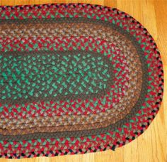 Vintage Handmade Oval Braided Rag Rug Lot 3 Ebay Wool Rugs Pinterest