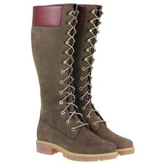 Timberland Knee High Boots | ... TIMBERLAND-23686-KNEE-HIGH-LACE-RIDING-BROWN-NUBUCK-LEATHER-BOOTS-SIZE