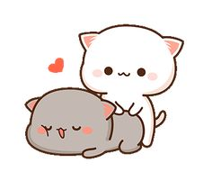 Pin by SaSu Akahime on Süße tiere in 2020 Cute Bear Drawings, Cute Kawaii Drawings, Cute Cartoon Drawings, Cartoon Cats, Cute Anime Cat, Cute Cat Gif, Cute Love Pictures, Cute Love Gif, Cute Cartoon Pictures