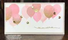 WOW!! This month's Throwback Thursday card has been getting a lot of Pinterest traffic the past 2 weeks.  It's a card that I created, using the Balloon Celebration Stamp Set back in ear…