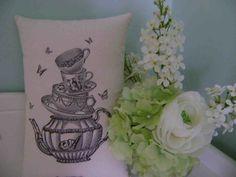 Alice in wonderland print cushion