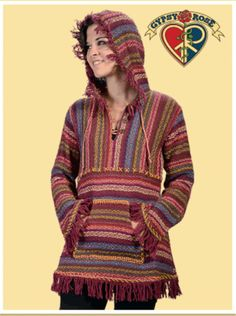 Winterland Striped Loose Weave Babydoll Baja