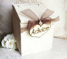 Wedding card box rustic or vineyard wedding decor