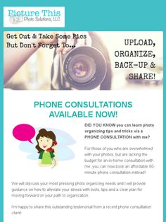 Photo Organizing Phone Consults Now Available! Organization Hacks, Organizing, Did You Know, You Got This, Call Me, Your Photos, Don't Forget, Knowing You, How To Get