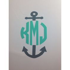 Monogram Anchor Vinyl Decal for Car Laptop Car Decal Sticker for the... ($5) ❤ liked on Polyvore featuring home, home decor, wall art, home & living, home décor, red, wall decals & murals, wall décor, wall stickers and vinyl car decals