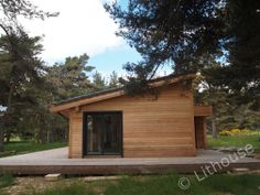 Even with modern architecture design this wooden house perfectly implements into nature surrounding. Modern Wood House, Wooden House, Modern Architecture Design, Modern Design, Modern Contemporary Homes, Natural Building, Wood Construction, House In The Woods, House Floor Plans