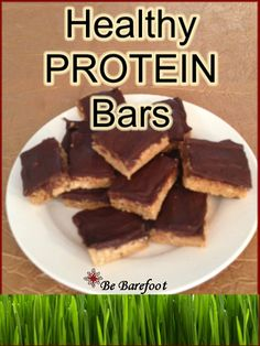I'm going to have to try these with Isagenix protein powder and milk chocolate Isadelights!!   Be-Barefoot: Healthy Protein Bars - Much like Reeses Peanut Butter Cups