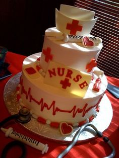 nurse cake! Want for my grad party