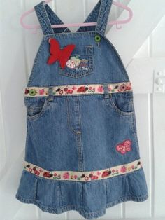 DENIM     BABYBLUES 'LADYBUG' DRESS £12.50 See https://folksy.com/shops/sldelaney