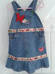 DENIM     BABYBLUES 'LADYBUG' DRESS £12.50 See https://folksy.com/shops/sldelaney