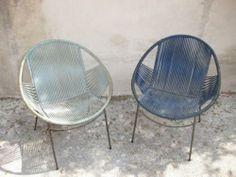take a seat Terrace Bois, Home Furniture, Furniture Design, Outdoor Furniture, Sofa Seats, Painted Chairs, Take A Seat, Retro Design, Architecture
