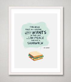 30 Rock Liz Lemon Quote 8 x 10 print I Believe All by RareMachine, $18.00