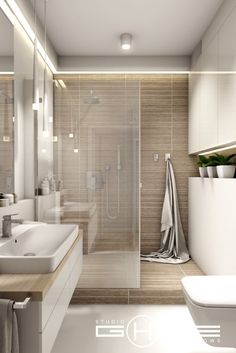 Home Decor Elegant Project in Warsaw residential Central Park Ursynw.Home Decor Elegant Project in Warsaw residential Central Park Ursynw Serene Bathroom, Beige Bathroom, Bathroom Layout, Modern Bathroom Design, Bathroom Interior Design, Bathroom Ideas, Bathroom Organization, Master Bathroom, Bathroom Inspo