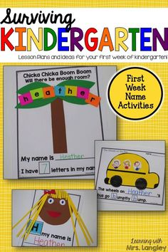 Are you new to kindergarten? Feeling uneasy about the first day? Let me help you make the most of your first few days of kindergarten. This product has everything you need to create a positive classroom environment and includes nametags, welcome back gift tag, desk nametags, bus passes, lots of name activities for the first week, tips on teaching procedures and thorough lesson plans to guide you through the first week.