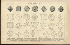 Vintage Antique Print 1895 KRYSTALLE 1 by VintageInclination, $22.00