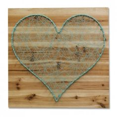 String Heart Wall Art - Blue