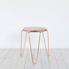 Klein Gem Stool Copper with Natural Top by TUCKBOX - Melbourne