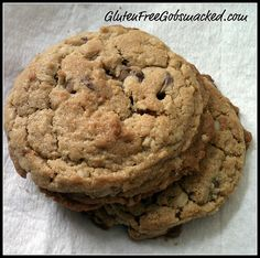 Peanut Butter & Oatmeal Chocolate Chip Cookies (GF)