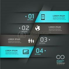 Abstract infographics communication technology origami style options banner Vector illustration can be used for workflow layout, diagram, number options, step up options, web design