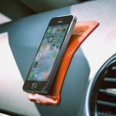 Keep your phone in sight with a grip strip. | 36 Things That Will Make Riding In Your Car So Much Better