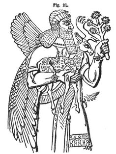 §§§ . Assyrian Divinity, Nineveh, with the Spotted Fallow-Deer