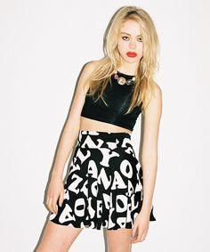 Lazy Oaf - Letterz Circle Skirt
