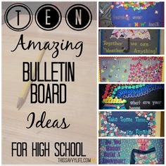 10 Amazing Bulletin Board Ideas for High School | This Savvy Life