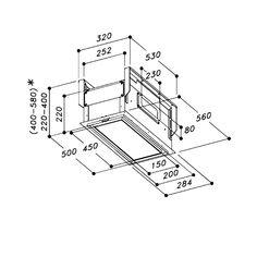 Výdech pro stropní digestoř do podhledu při recirkulaci