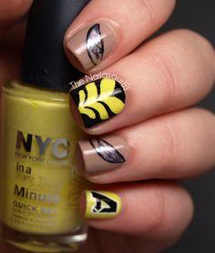 Wasp nail art  #Avengers