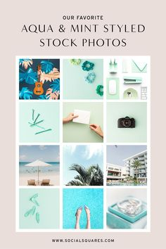 Aqua and mint stock social media images for small business owners, creatives, entrepreneurs and bloggers! Get access to thousands of social media images plus tons of helpful tools and resources for growing your social media presence & improving your marketing strategy! Let us help you create a feed that gets noticed! Click to find out more about Social Squares now!   feminine stock photos   styled stock photography   styled stock   #socialsquares #styledstock #freephotos Aqua Blue Color, Green Colors, Stock Imagery, Social Media Images, Blog Images, Build Your Brand, Create Website, Tiffany Blue, Free Photos
