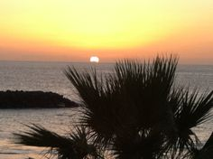 Sunset view from Costa Adeje Tenerife.