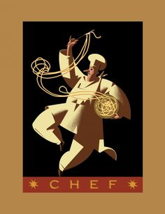 Chef Graphic Poster Art by Robert Rodriguez