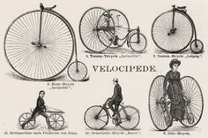 early bicycle photos | The First Motorcycles, Steam-Cycles and the Velocipede (Vélocipède)